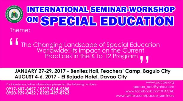 INTERNATIONAL SEMINAR-WORKSHOP ON SPECIAL EDUCATION (SPED)