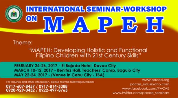 INTERNATIONAL SEMINAR-WORKSHOP ON MAPEH
