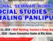 National Seminar-Workshop on Social Studies or Araling Panlipunan