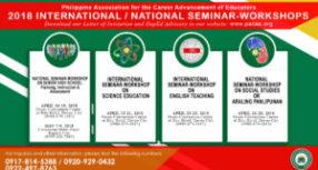 PACAE 2018 INTERNATIONAL & NATIONAL SEMINAR-WORKSHOPS