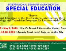 International Seminar-Workshop on Special Education