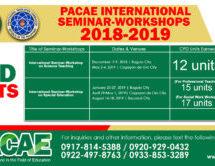 INTERNATIONAL SEMINAR-WORKSHOPS 2018-2019 CPD UNITS