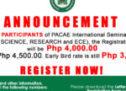 PACAE Advisory No. 03-080719